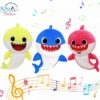 Sibia Palace Baby Shark Plush With Music & Light Mom Dad Baby