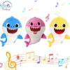 Sibia Palace Baby Shark Plush With Music & Light Mom Dad Baby ALL Shark Music