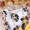 Sibia Palace Baby Girls Tulle Floral Print Tutu Princess Dress Outfit Collar Toddler