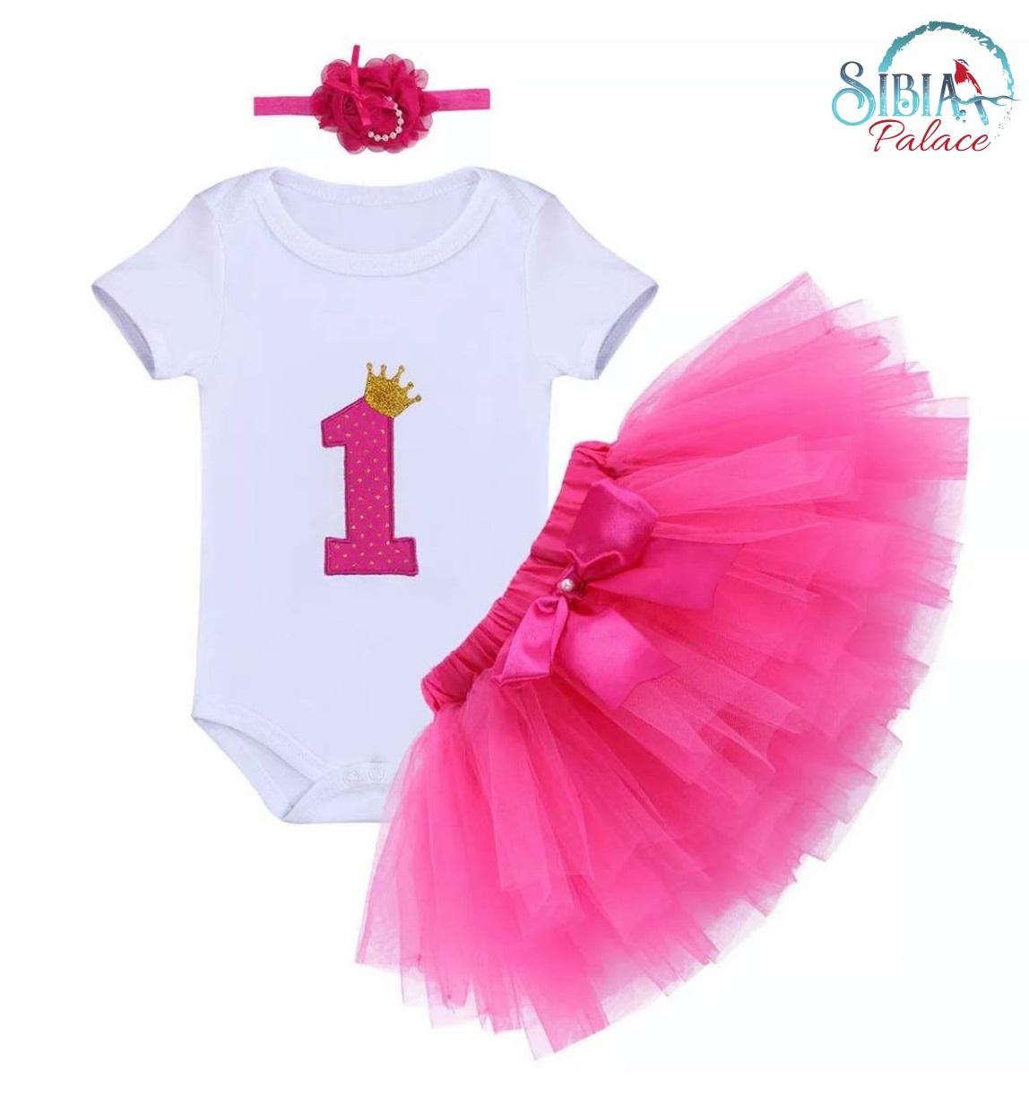 1st Birthday Princess Dress.Sibia Palace Baby Girl 1st Birthday Princess Rose Pink Glitter Outfit Dress