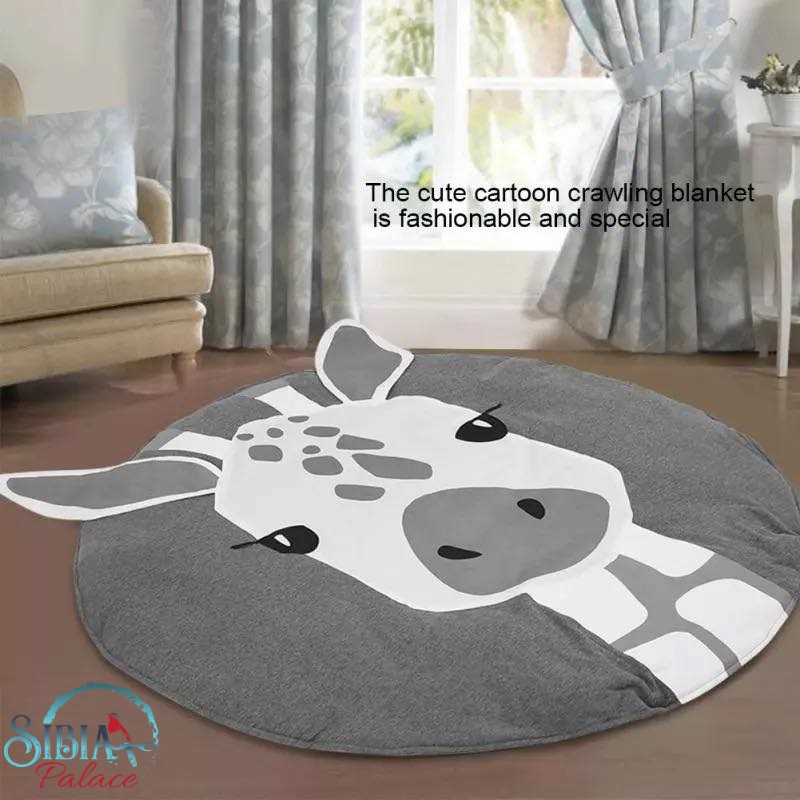 Tummy Time Crawling Mat Giraffe Nursery Rug