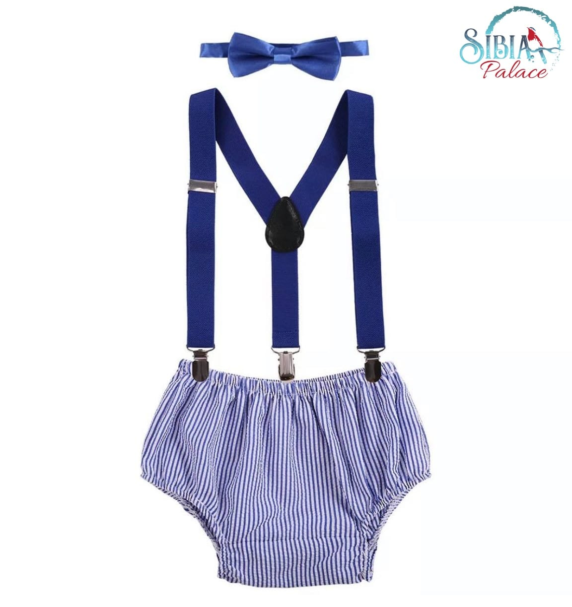 Baby Boys Birthday Outfit Cake Smash Bloomers Suspenders Diaper Cover Photo Prop