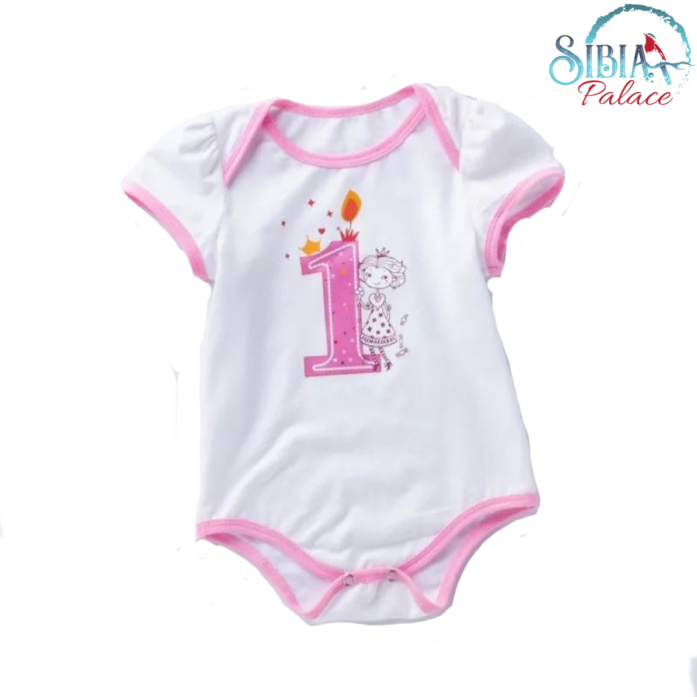 Fabulous Sibia Palace Baby Girl Is Princess One 1St Birthday Cake Smash Romper Funny Birthday Cards Online Alyptdamsfinfo